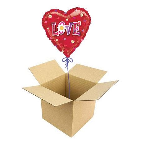 """Сегодня Шар в коробке  """"Сердечко """" можно купить от 1290,00 руб."""